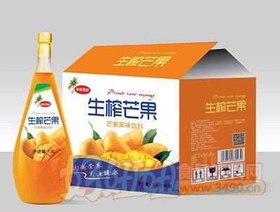 迷昵果园生榨芒果1.5lx6瓶