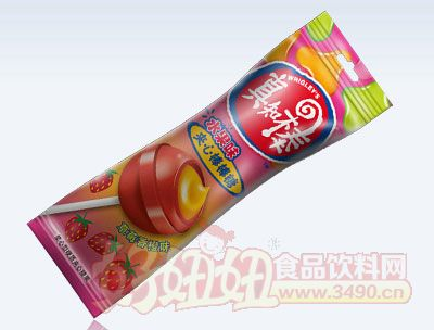 真知棒草莓香橙夹心棒棒糖