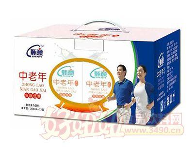 甄意动能新活力低糖型中老年高钙饮料250ml×12盒