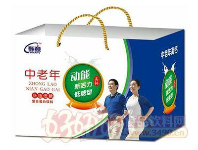 甄意动能新活力低糖型中老年高钙饮料250ml×12盒手提袋