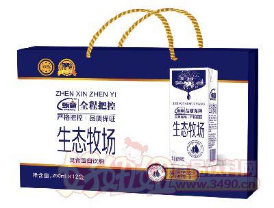 甄意生态牧场复合蛋白饮料饮料250ml×12盒