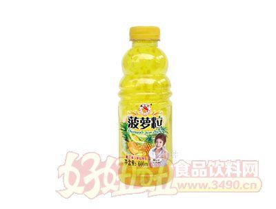 富士达菠萝粒果汁600ml