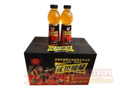 优贝源优贝能量牛磺酸强化维生素饮料600ml×15瓶箱装