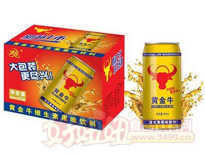 冰庄黄金牛维生素果味饮料500ml×12罐