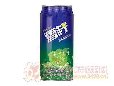 冰爽柠檬味雪拧果味碳酸饮料490ml