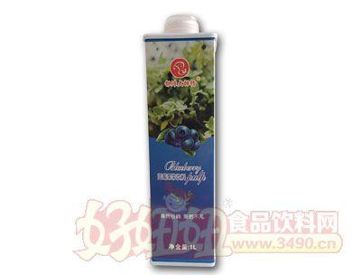 银滩大拇指蓝莓果浆饮料1L