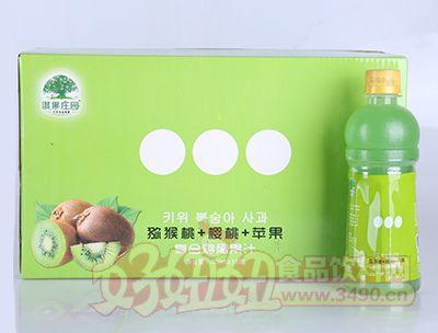 淇果庄园猕猴桃樱桃苹果复合鸡尾果汁420ml×15瓶