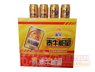 泰牛能量强化型维生素风味饮料250ml×20罐