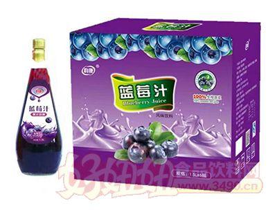 韵康蓝莓风味饮料1.5L×6瓶