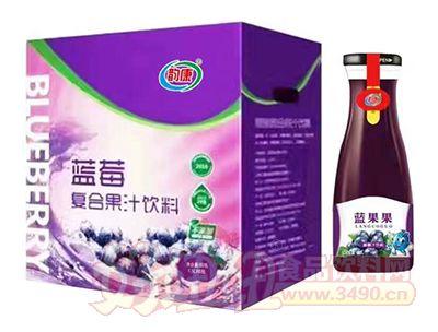 韵康蓝莓复合果汁饮料1.5L×6瓶