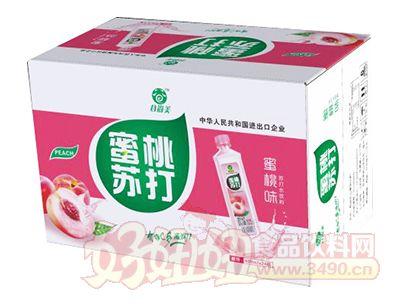 谷尚美蜜桃味苏打水饮料400ml×24瓶