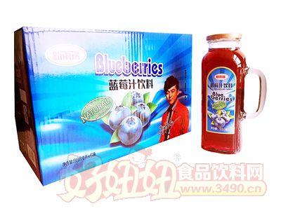 新雨瑞蓝莓汁饮料988ml×6瓶