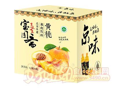 宝圆斋京味黄桃果肉饮料1L×6瓶