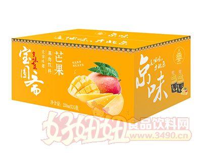 宝圆斋京味芒果果肉饮料330ml×15瓶