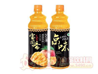 宝圆斋京味芒果果肉饮料1L