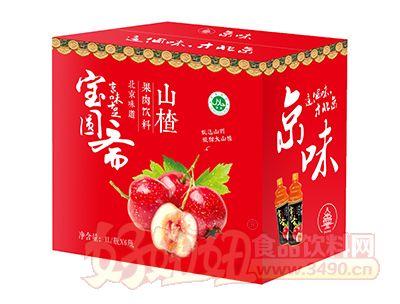 宝圆斋京味山楂果肉饮料1L×6瓶