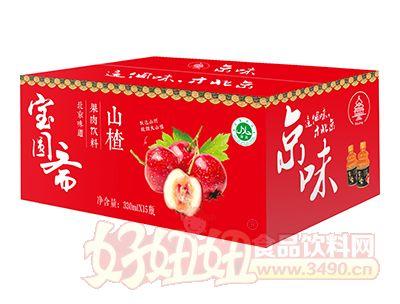宝圆斋京味山楂果肉饮料330ml×15瓶
