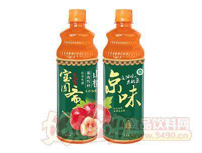宝圆斋无蔗糖京味山楂果肉饮料1L
