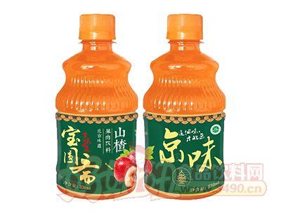 宝圆斋无蔗糖京味山楂果肉饮料330ml