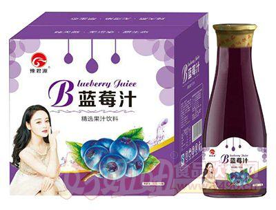 豫君源精选蓝莓汁饮料1.5L×6瓶