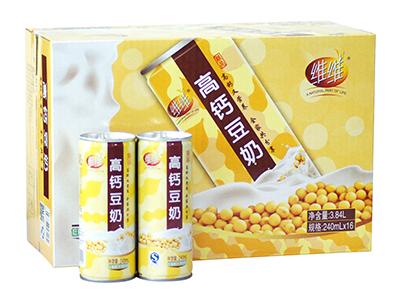 维维高钙豆奶(铁罐)240mlx16