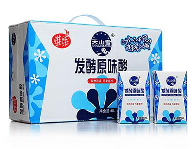 维维天山雪原味酸牛奶饮品(花样包)250ml×24