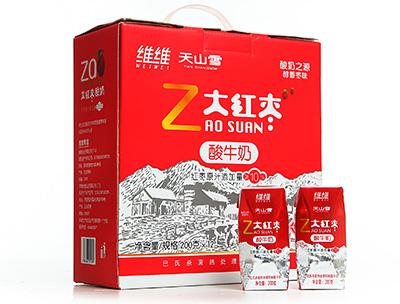 维维天山雪大红枣酸牛奶(钻石包)200g×12