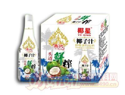 椰星泰式鲜榨椰子汁1.25KG×6瓶