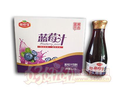 椰好佳蓝莓汁1L×6瓶