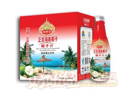 椰好佳正宗海南椰子椰子汁1.25L×6瓶