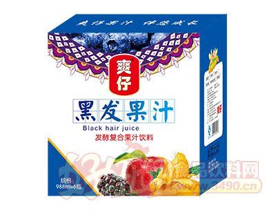 爽仔黑发发酵复合果汁饮料988ml×6瓶