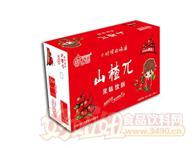 伊乡园山楂π果味饮料250ml×24盒