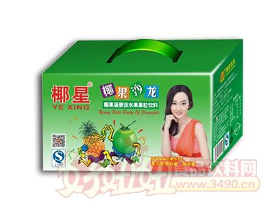 椰星椰果沙龙菠萝派水果果粒饮料250g×12罐箱装