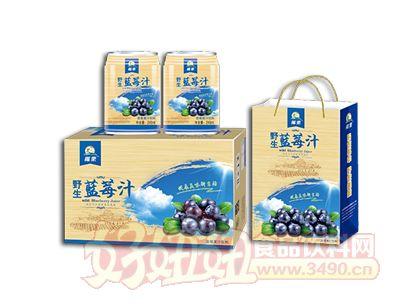 椰粟野生蓝莓果汁饮料245ml礼品装