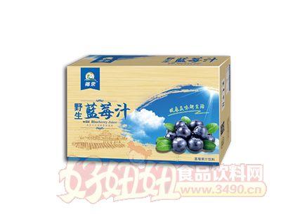 椰粟野生蓝莓果汁饮料245ml箱装
