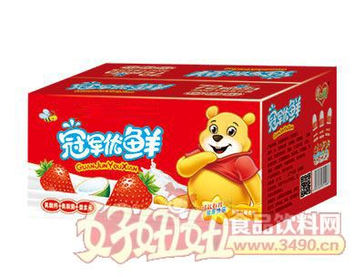 冠军优鲜乳酸菌200ml草莓味箱装