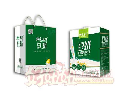 我爱豆汁豆奶250ml×12盒竖提礼盒装