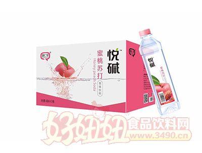 慧仁堂悦碱蜜桃苏打果味饮料400ml×24瓶