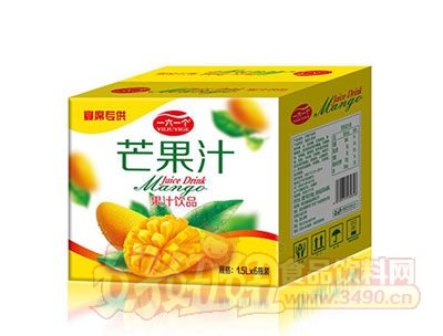 一六一个芒果汁饮品1.5L*6瓶