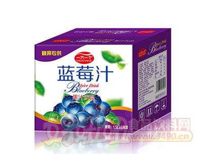 一六一个蓝莓汁果汁饮品15.L*6瓶