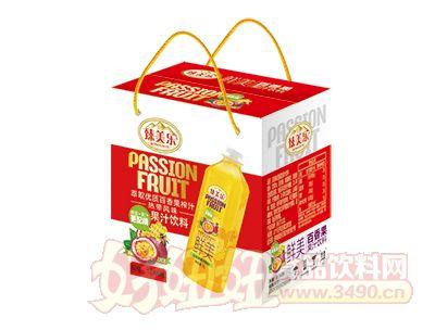 臻美乐鲜美百香果果汁饮料1L×6瓶