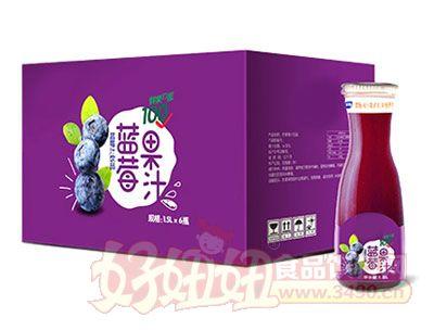 蓝莓果汁1.5L*6瓶