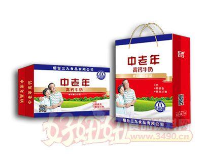 中老年高钙牛奶复合蛋白饮品礼盒装