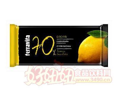 柠檬夹心巧克力片90g