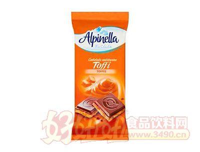 太妃糖巧克力片100g