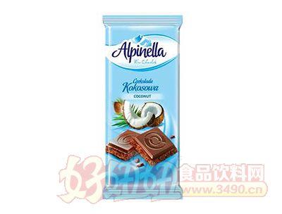 椰子巧克力片90g