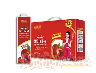 益和源果汁时光红枣枸杞汁饮料1L×4盒