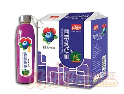益和源蓝莓炖杨梅1L×6瓶