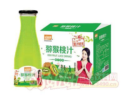 益和源大口弥猴桃汁1L×6瓶