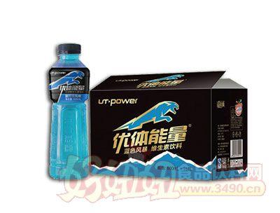 600ml蓝色风暴维生素饮料